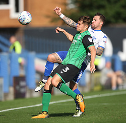 Conor Townsend of Scunthorpe United (L) and Chris Maguire of Bury in action - Mandatory by-line: Jack Phillips/JMP - 02/09/2017 - FOOTBALL - Gigg Lane - Bury, England - Bury v Scunthorpe United - English Football League One