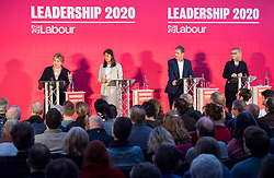 © Licensed to London News Pictures. 01/02/2020. Bristol, UK. The Labour Party Leadership Hustings, at Ashton Gate Stadium. Candidates: Emily Thornberry, Lisa Nandy, Kier Starmer, Rebecca Long-Bailey. Photo credit: Simon Chapman/LNP.