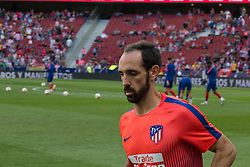 October 7, 2018 - Madrid, Madrid, Spain - Juanfran..during the match between Atletico de Madrid and Real Betis Balompie..Atletico de Madrid wins 1 to 0 over Real Betis Balompie whit goal of Correa. (Credit Image: © Jorge Gonzalez/Pacific Press via ZUMA Wire)