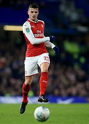 10 January 2018 -  EFL Cup - Semi Final (1st Leg) - Chelsea v Arsenal - Granit Xhaka of Arsenal - Photo: Marc Atkins/Offside