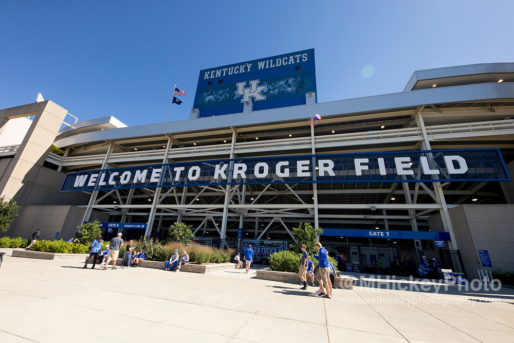 LEXINGTON, KY - SEPTEMBER 30: General view of the exterior of Commonwealth Stadium before the Kentucky Wildcats versus Eastern Michigan Eagles game on September 30, 2017 in Lexington, Kentucky. (Photo by Michael Hickey/Getty Images)