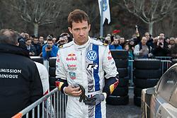 17.01.2014, Reifen Service, Sisteron, FRA, FIA, WRC, Monte Carlo, 2. Tag, im Bild OGIER Sebastien ( VOLKSWAGEN MOTORSPORT (DEU) / VOLKSWAGEN POLO R ), Freisteller during day two of FIA Rallye Monte Carlo held near Monte Carlo, France on 2014/01/17. EXPA Pictures © 2014, PhotoCredit: EXPA/ Eibner-Pressefoto/ Neis<br /> <br /> *****ATTENTION - OUT of GER*****