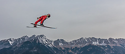 02.01.2016, Bergisel Schanze, Innsbruck, AUT, FIS Weltcup Ski Sprung, Vierschanzentournee, Training, im Bild Andreas Wank (GER) // Andreas Wank of Germany during his Practice Jump for the Four Hills Tournament of FIS Ski Jumping World Cup at the Bergisel Schanze, Innsbruck, Austria on 2016/01/02. EXPA Pictures © 2016, PhotoCredit: EXPA/ JFK