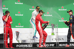 June 9, 2018 - Montreal, Canada - Motorsports: FIA Formula One World Championship 2018, Grand Prix of Canada , #5 Sebastian Vettel (GER, Scuderia Ferrari)#77 Valtteri Bottas (FIN, Mercedes AMG Petronas), #33 Max Verstappen (NDL, Red Bull Racing) (Credit Image: © Hoch Zwei via ZUMA Wire)