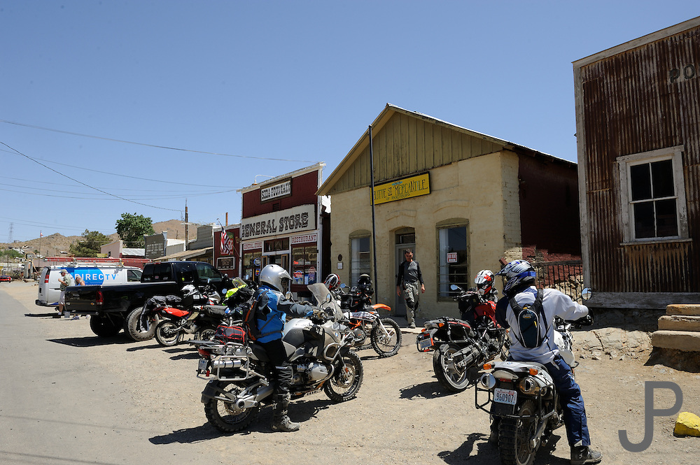 Day two of the BMW Adventure Riders Challenge saw contestants gather at the general store in Ransburg, California in the Mohave Desert.