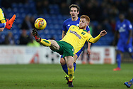 Harrison Reed of Norwich city in action. EFL Skybet championship match, Cardiff city v Norwich city at the Cardiff city stadium in Cardiff, South Wales on Friday 1st December 2017.<br /> pic by Andrew Orchard, Andrew Orchard sports photography.