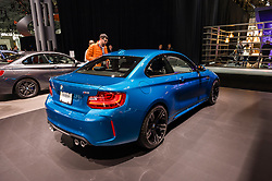 NEW YORK, USA - MARCH 23, 2016: BMW M2 on display during the New York International Auto Show at the Jacob Javits Center.