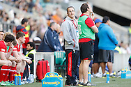 Photo by Andrew Tobin/Tobinators Ltd. Wales coach Paul John looks on during the IRB London Rugby 7s tournament held at Twickenham Stadium, London on 12th May 2013. New Zealand won the tournament beating Australia in the final, and also won the overall 2012/13 series.