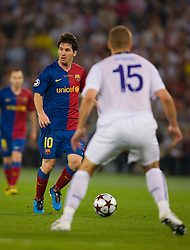 ROME, ITALY - Tuesday, May 26, 2009: Barcelona's Lionel Messi during the UEFA Champions League Final against Manchester United at the Stadio Olimpico. (Pic by Carlo Baroncini/Propaganda)