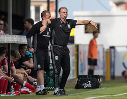 RHYL, WALES - Saturday, September 2, 2017: Wales' Manager Paul Bodin during an Under-19 international friendly match between Wales and Iceland at Belle Vue. (Pic by Gavin Trafford/Propaganda)