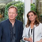 NLD/Amsterdam/20150331 - Boekpresentatie Altijd Viareggio van Rick Nieman, Rick Nieman en partner Sacha de Boer