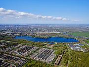 Nederland, Noord-Holland, Amsterdam; 17-04-2021; Amsterdam-Zuidoost, Gaasperdam en Gein. Grens van de stad Amsterdam, Gaasperzoom, groengebied Amstelland. Gaasperplas<br /> Amsterdam Southeast, Gaasperdam and Gein. Border of the city of Amsterdam, Gaasperzoom, green area Amstelland.<br /> luchtfoto (toeslag op standaard tarieven);<br /> aerial photo (additional fee required)<br /> copyright © 2021 foto/photo Siebe Swart