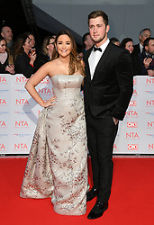 Jacqueline Jossa and Daniel Osborne attending the National Television Awards 2018 held at the O2, London. Photo credit should read: Doug Peters/EMPICS Entertainment
