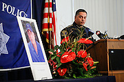Milpitas Chief of Police Steve Pangelinan speaks during a press conference in regard to four arrests made in the murder of Mohammad Reza Sadeghzadeh, a 67-year-old Milpitas 7-Eleven night clerk who was murdered on September 8, 2012 during a 2:13 a.m. robbery, at the Milpitas Police Department in Milpitas, California, on December 12, 2013. (Stan Olszewski/SOSKIphoto)