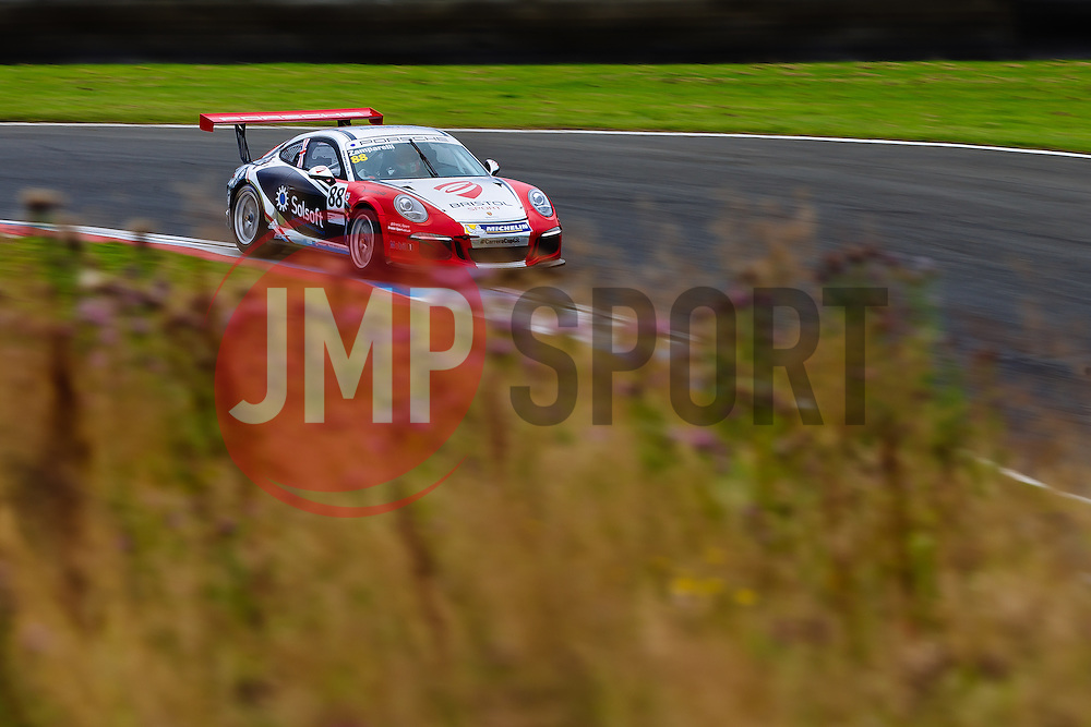 Dino Zamparelli   Bristol Sport Racing   #88 Porsche 911 GT3 Cup Car   Porsche Carrera Cup GB   Qualifying - Mandatory byline: Rogan Thomson/JMP - 07966 386802 - 22/08/2015 - MOTORSPORT - Knockhill Racing Circuit - Dunfermline, Scotland - BTCC Meeting Day 1.
