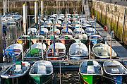 Boats in San Sebastian harbor (Spain)