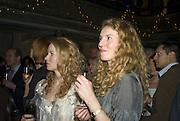 MARY STOCKLEY AND CAMILLA SIMSON, Discover Wilton's Music Hall, Fundraising event. Graces alley, Ensign St. London. 5 December 2007. -DO NOT ARCHIVE-© Copyright Photograph by Dafydd Jones. 248 Clapham Rd. London SW9 0PZ. Tel 0207 820 0771. www.dafjones.com.