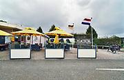 Nederland, Millingen aan de rijn, 2019Serie van lege terrassen voor het blad Hollandse Beelden . In het dorp. Gelderse Poort .Foto: Flip Franssen