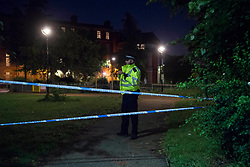 June 6, 2017 - London, London, United Kingdom - Image ©Licensed to i-Images Picture Agency. 06/06/2017. London, United Kingdom. Tottenham murder. A police cordon in Tottenham, north London, after a boy believed to be 17, was stabbed to death earlier today. Picture by David Mirzoeff / i-Images (Credit Image: © David Mirzoeff/i-Images via ZUMA Press)