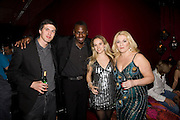 ALEX BRODKIN, BEN OFEODU, VANESSA FELTZ AND ALLEGRA FELTZ, Bingo Lotto launch party. Soho Hotel Richmond Mews. London. 29 February 2008.  *** Local Caption *** -DO NOT ARCHIVE-© Copyright Photograph by Dafydd Jones. 248 Clapham Rd. London SW9 0PZ. Tel 0207 820 0771. www.dafjones.com.