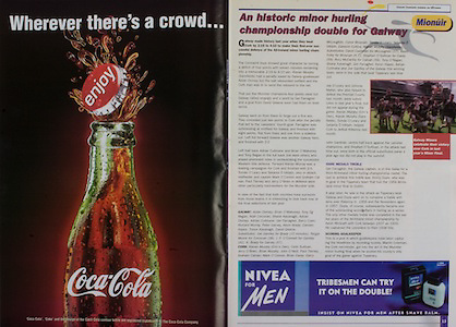 All Ireland Senior Hurling Championship Final,.09.09.2001, 9th September 2001,.Minor Cork 2-10, Galway 1-8,.Senior Tipperary 2-18, Galway 2-15,  .09092001AISHCF,.Coca Cola,