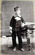 child dressed up in military unform France 1880s