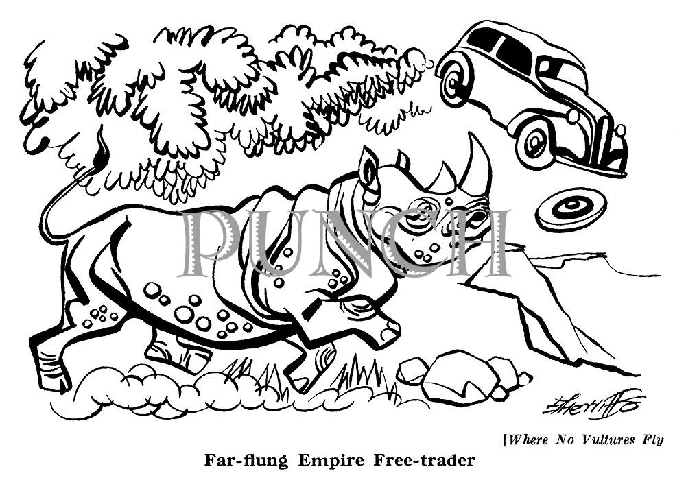 Where No Vultures Fly : Rhinoceros and car