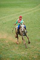 Mongolia, province de Bulgan, course de chevaux pour la fete du Naadam // Mongolia, Bulgan province, horse race at the Naadam festival