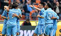 """esultanza di Hugo Campagnaro del Milan<br /> Milano 21/3/2010 Stadio """"Giuseppe Meazza""""<br /> Milan Napoli 1-1<br /> Campionato di calcio di Serie A 2009/2010<br /> Foto Bibi Insidefoto"""