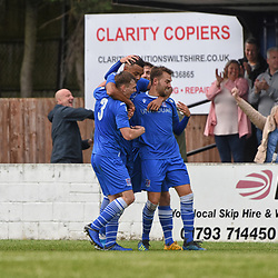 Swindon Supermarine Fc Wiltshire England UK 10th August 2019. Swindon Supermarine football club hosts Walton Casuals at the webwoods stadium. Final score 3-2 to Supermarine FC