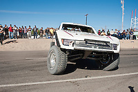 Mike Julson Trophy Truck spins out near finish of 2012 San Felipe Baja 250, San Felipe, Baja California, Mexico