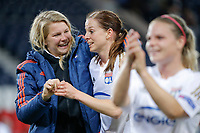 Ada Hegerberg (Olympique Lyonnais), Lotta SCHELIN (Olympique Lyonnais) celebrated the qualifying during the UEFA Women's Champions League, semi final football match, 2nd leg, between Paris Saint Germain and Olympique Lyonnais on May 2, 2016 at Parc des Princes stadium in Paris, France - Photo Stephane Allaman / DPPI