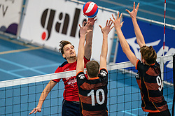 Finn Frielink of Taurus in action during the league match Talentteam Papendal vs. Taurus on october 16, 2021 in van der Knaaphal, Ede
