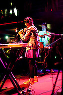 Liliana Saumet is the lead singer for Colombian based cumbia band Bomba Estereo. In 2010, MTV Iggy named Bomba Estereo the band of the year. On May 23, 2011, the band played The New Parish in Oakland, California.