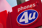 Sign for mobile phone shop Phones 4 U.
