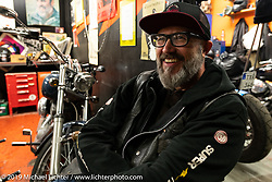 Guest judge Ola Stenegard (head of design at Indian Motorcycles) after a long day at the big annual Twin Club Bike Show in Norrtälje and the party at the clubhouse. Sweden. Saturday, June 1, 2019. Photography ©2019 Michael Lichter.