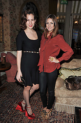 Left to right, CHARLOTTE DELLAL and OLIVIA PALERMO at a screening of Charlotte Olympia's new film 'To Die For' held at Mark's Club, Charles Street, London W1 on 22nd February 2011.