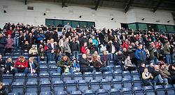 Main stand at the start. Falkirk v Raith Rovers. Scottish Championship game played 22/10/2016 at The Falkirk Stadium.