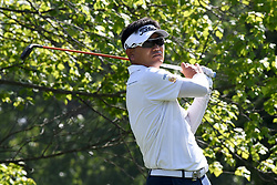 August 9, 2018 - St. Louis, Missouri, United States - Y. E. Yang tees off during the first round of the 100th PGA Championship at Bellerive Country Club. (Credit Image: © Debby Wong via ZUMA Wire)