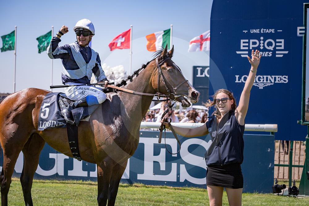 Senga (S. Pasquier) the winner of Gr.1 Prix de Diane Longines Chantilly, France 18/06/2017, photo: Zuzanna Lupa / Racingfotos.com