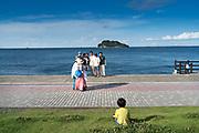 gathering at Umikaze park, Yokosuka with Tokyo Bay and Sarushima Island