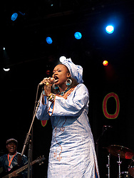 Oumou Sangare and band playing at WOMAD 2009