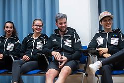Lucka Rakovec, Vita Lukan, Jernej Kruder, Domen Skofic during PZS press conference after IFSC Climbing World Championships in Hachioji (JPN) 2019, on August 23, 2019 at Ministry of Education, Science and Sport, Ljubljana, Slovenia. Photo by Grega Valancic / Sportida
