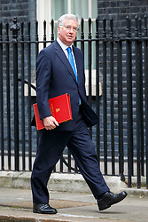 © Licensed to London News Pictures. 29/03/2017. London, UK.  Defence Secretary MICHAEL FALLON attends a cabinet meeting in Downing Street, London on Wednesday, 29 March 2017 as Prime Minister Theresa May triggers article 50 and starts Britain's departure from the European Union. Photo credit: Tolga Akmen/LNP
