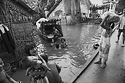 Vietnam, Can Tho: children plyng in the stream..
