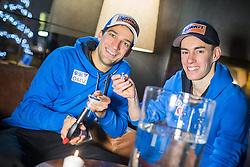 30.12.2014, for Friends, Mösern, AUT, FIS Ski Sprung Weltcup, 63. Vierschanzentournee, OeSV Bleigiessen, im Bild Andreas Kofler (AUT) und Stefan Kraft (AUT) // Andreas Kofler of Austria and Stefan Kraft of Austria during Happy New Year lead Pouring of Austrian Team of the 63rd Four Hills Tournament of FIS Ski Jumping World Cup at the for Friends Hotel, Mösern, Austria on 2014/12/30. EXPA Pictures © 2014, PhotoCredit: EXPA/ JFK