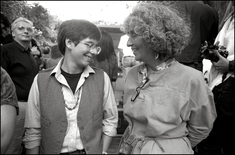 at Wigstock, an annual outdoor drag festival that began in the 1980s in Tompkins Square Park in the East Village of New York City that took place on Labor Day. 1989