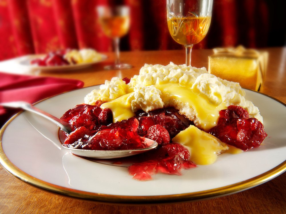 Traditional Sherry trifle  dessert.