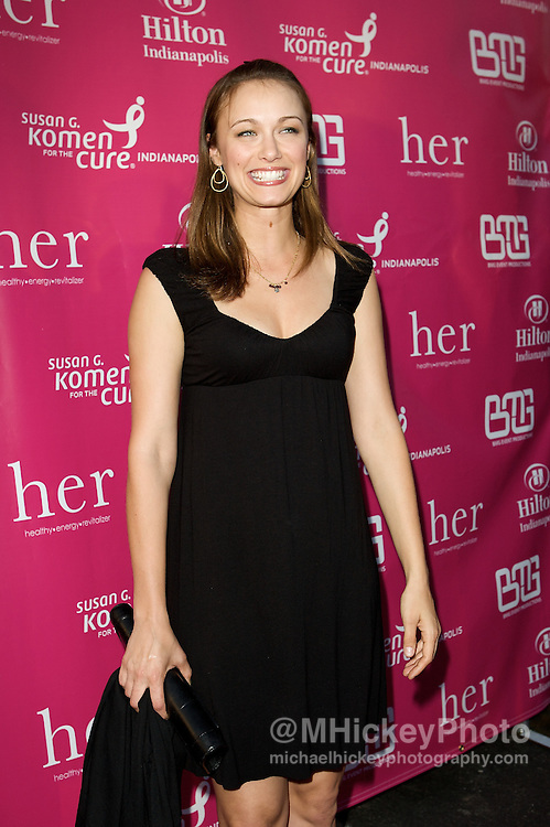 Actress Deanna Russo appears on the Pink Carpet at the Her House event at the Mavris in Indianapolis, Indiana.<br /> Photo by Michael Hickey