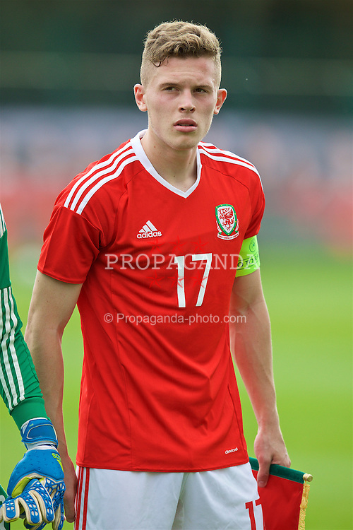 NEWPORT, WALES - Tuesday, September 6, 2016: Wales' Jack Challis lines-up before the International Friendly match against Iceland at Dragon Park. (Pic by David Rawcliffe/Propaganda)